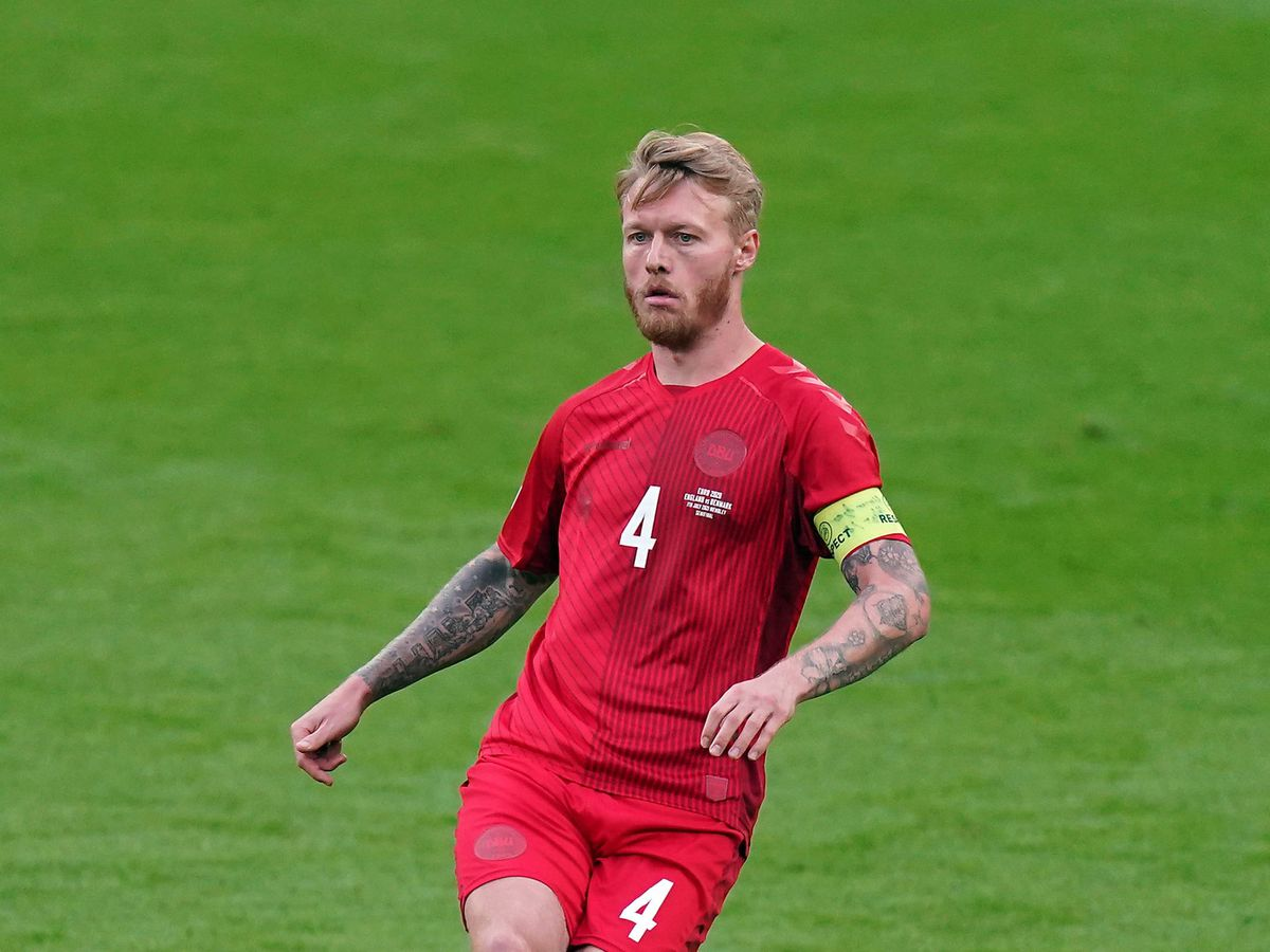 Denmark skipper Simon Kjaer was one of the first to reach Christian Eriksen after his collapse