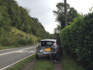 One of the cars involved in the crash. Photo: Councillor David Turner
