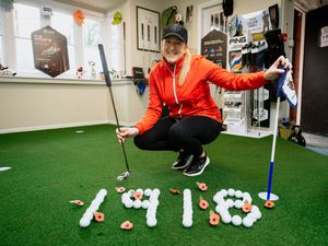 Golf pro Lisa Shervill is aiming to putt 1,918 balls at Lilleshall Hall Golf Club shop to raise money for the Battle Back Centre
