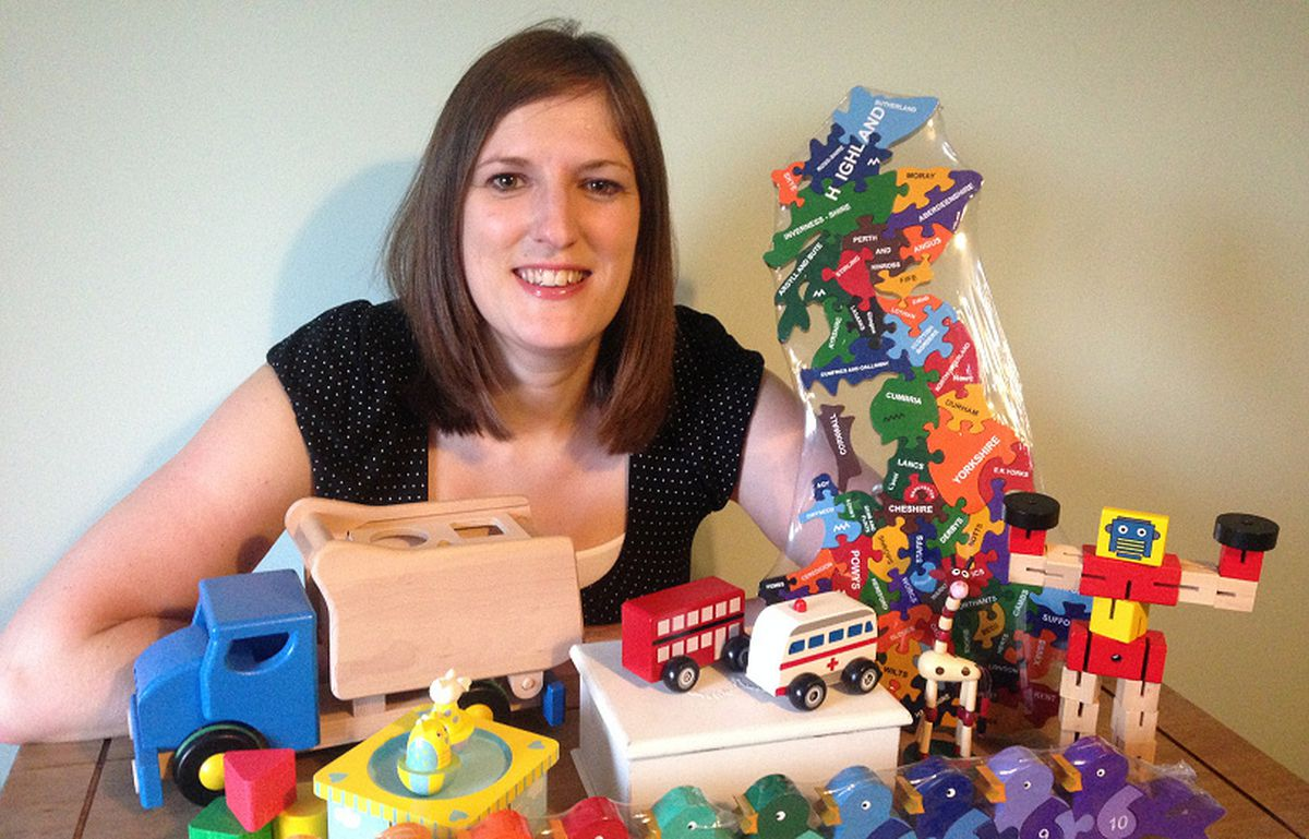 Hannah Edgington, owner of The Wooden Play Den