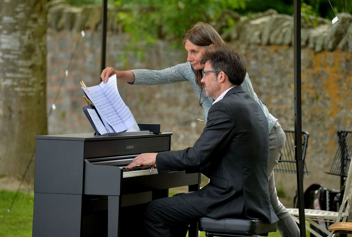 Jonathan Lyness on piano at the Mid Wales Opera concert