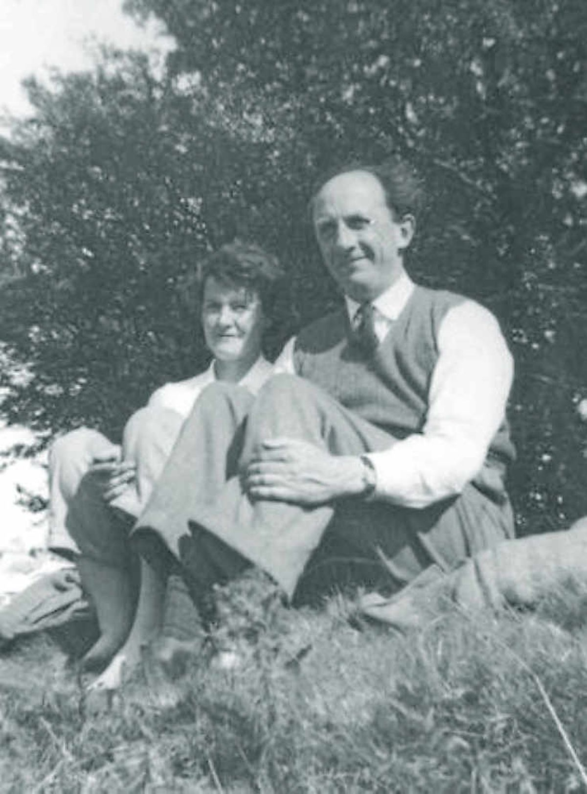A much earlier photograph of Thea and John