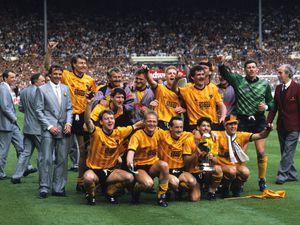 The 1988 Sherpa Van Trophy Final at Wembley  29th May 1988 Wolverhampton Wanderers celebrate after beating Burnley 2-0.Mark Kendall