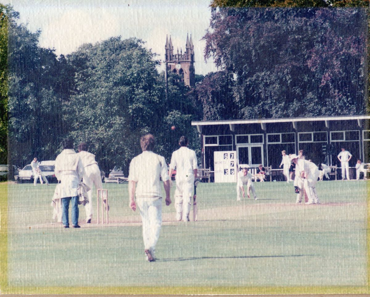 Enville Cricktet Club in action, probably during the 1990s