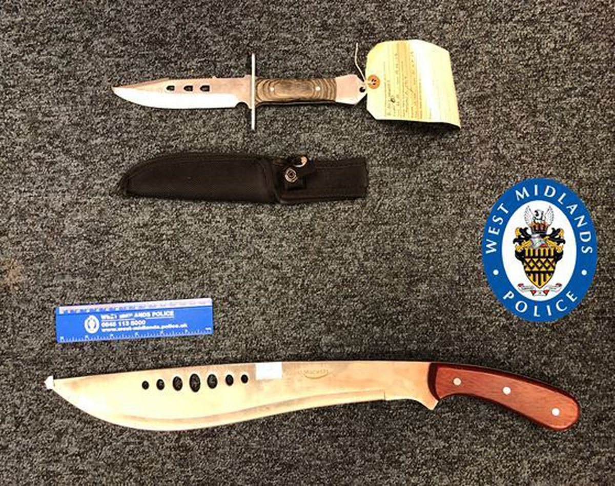 This machete was found in the foot well of the Ford Mondeo Bell was in