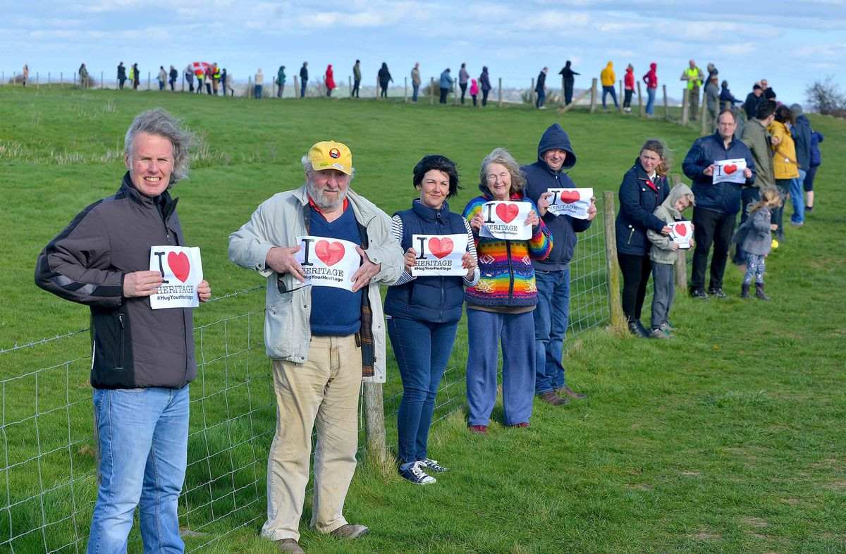 It was the latest of several 'hug the hillfort' events