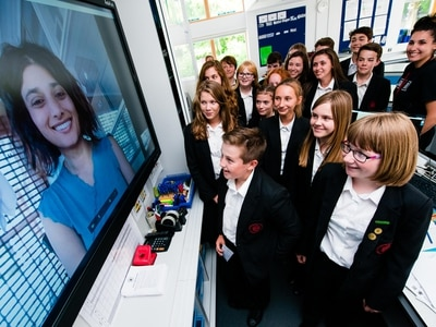 Ground control to . . . Bishop's Castle, as pupils in NASA webchat