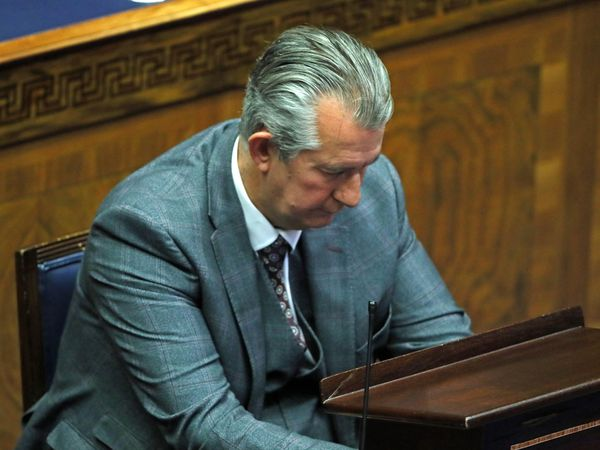 DUP leader Edwin Poots in the Chamber