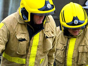 SOUTH WITH WORDS TOM Corfton Farm, Corfton, was used by Shropshire Fire and Rescue was used for a training exercise to recreate a home situation.  17.06.15 PIC BY LAURA DUTFIELD COPYRIGHT OF SHROPSHIRE NEWSPAPERS.