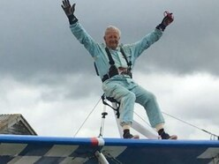 Daredevil 70-year-old Anthony flies high for charity