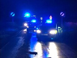 Car crashes near Market Drayton