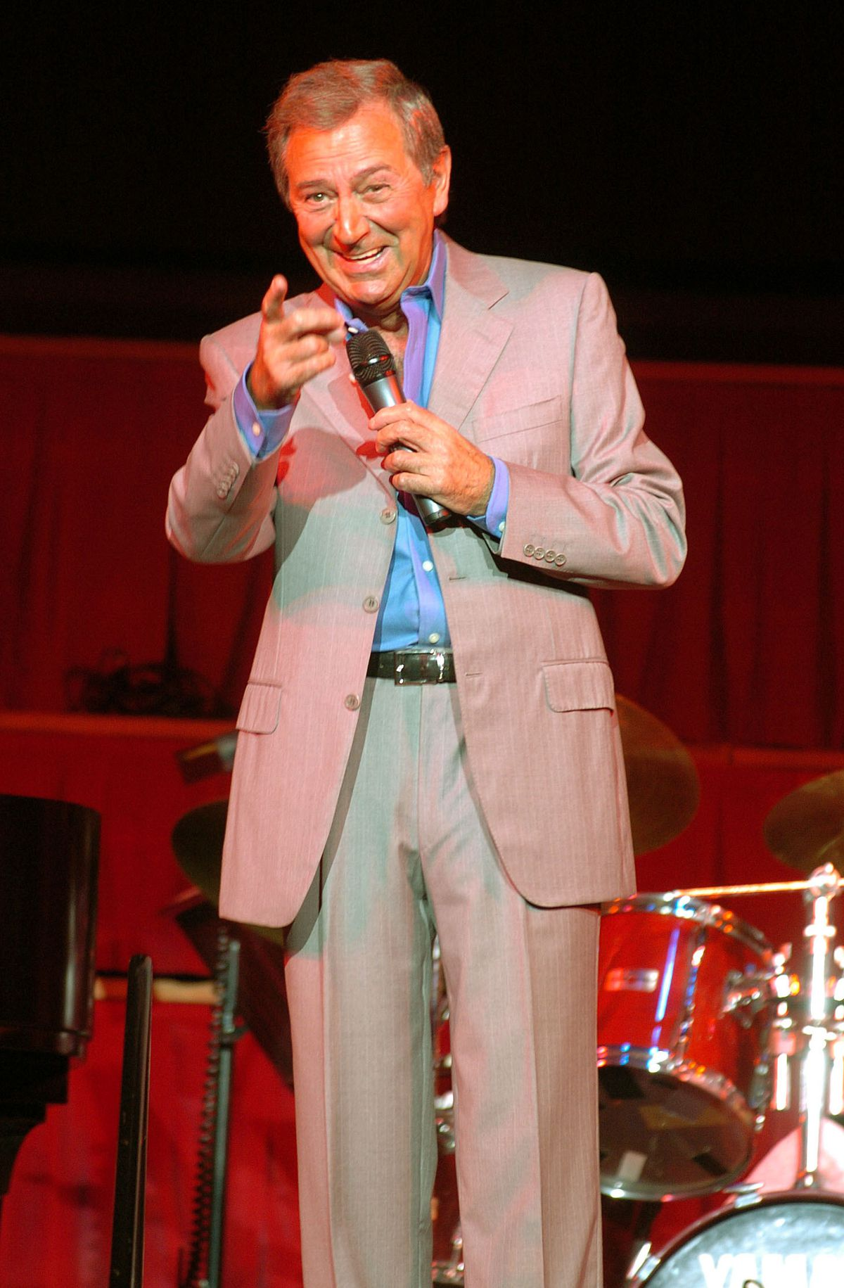 Des O'Connor on stage at Dudley Concert Hall in 2006