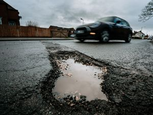 Potholes are a problem across Shropshire