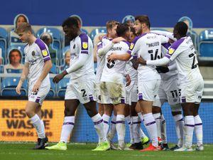 Leon Clarke of Shrewsbury Town celebrates after scoring a goal to make it 0-1. (AMA)