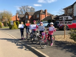 Children protest over rat run fears near Oswestry