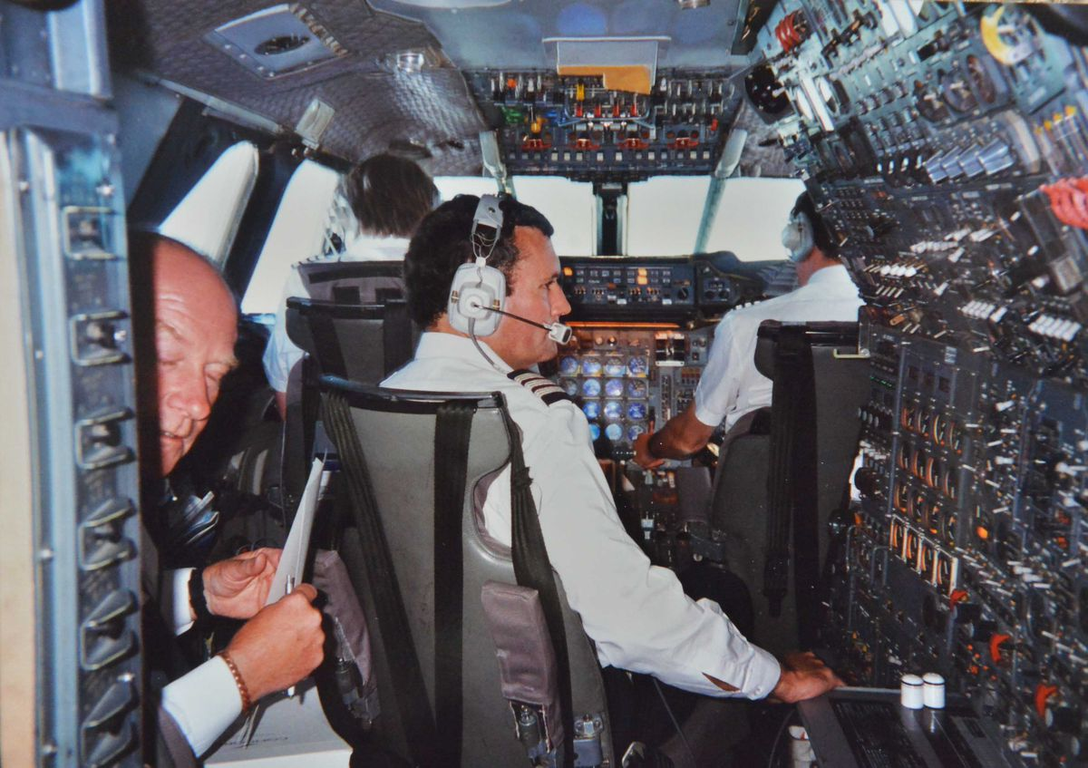 Alan Beckett's picture in the cockpit of Concorde