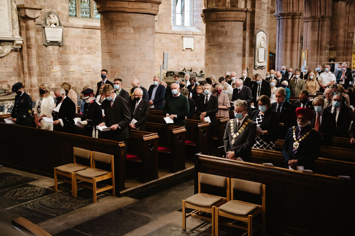 A Covid memorial service took place at Shrewsbury Abbey