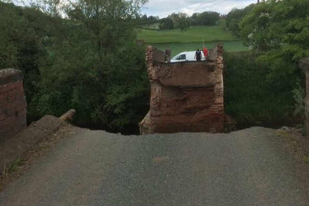Bridge collapses near Shropshire border | Shropshire Star