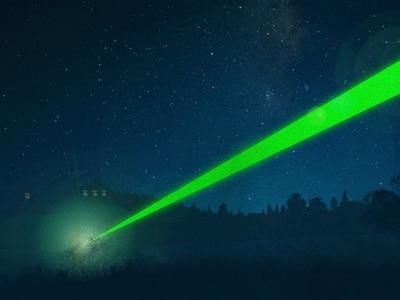 Laser pen shone at aircraft over Market Drayton