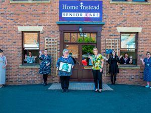 Members of Home Instead Telford, Bridgnorth, Market Drayton & Newport with the award