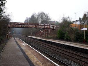 The existing south bridge at Oakengates Railway Station