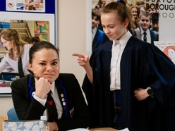Looks like you're trouble Miss! Pupils take over at Newport school