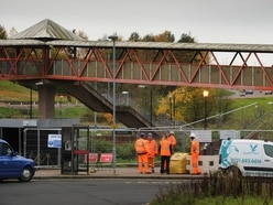 Work begins on next step for Telford Central footbridge work