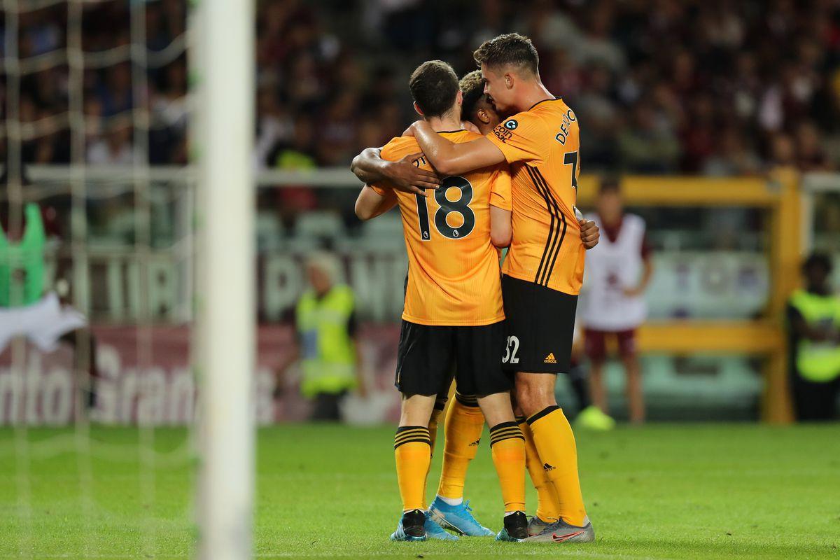 Diogo Jota of Wolverhampton Wanderers celebrates after scoring a goal to make it 0-2 (AMA)