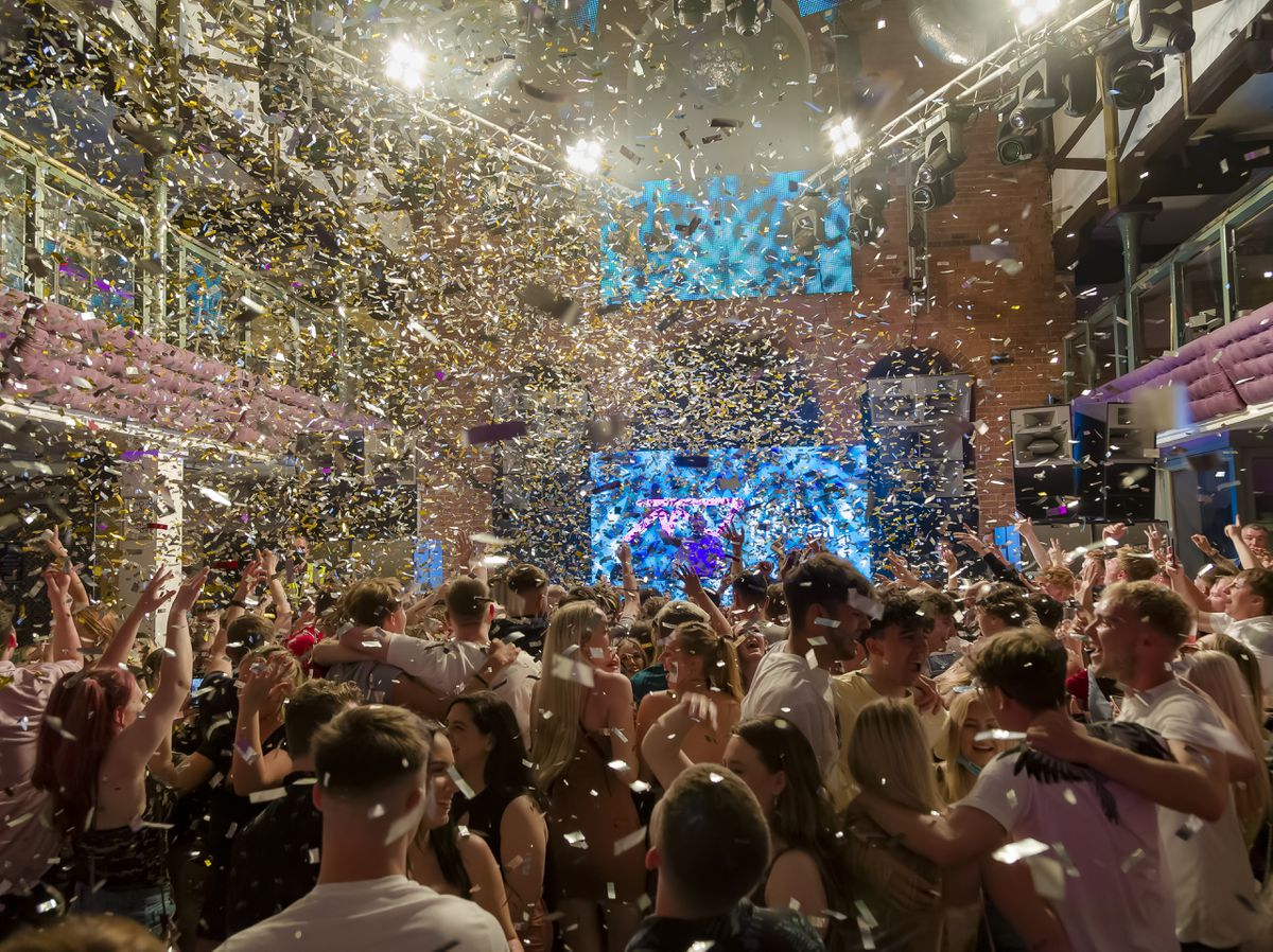 The Buttermarket on the night of its post-lockdown party. Photo: Clive Padden