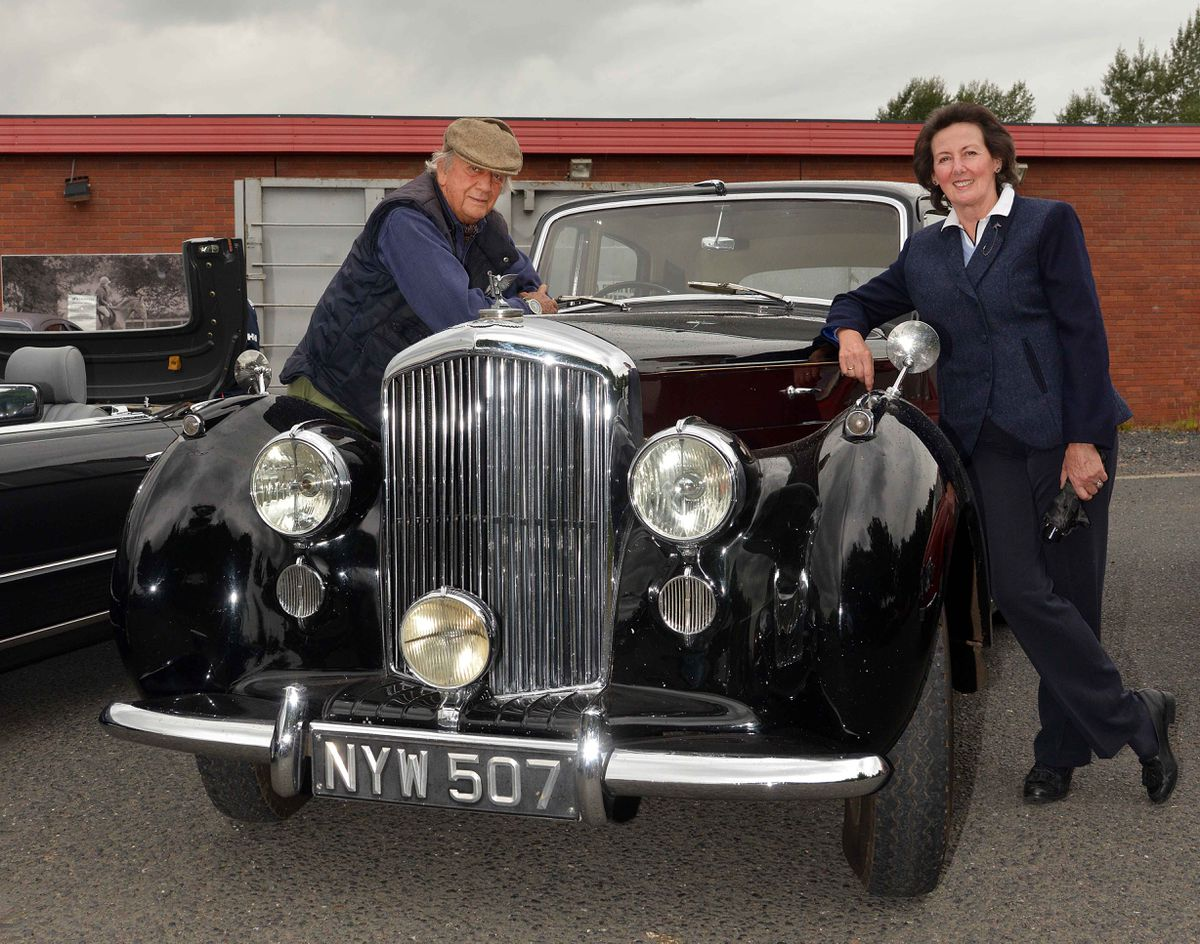 Anthony Fenwick – Wilson and Diana next to their superb 1953 Bentley