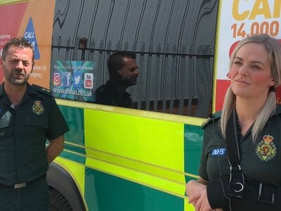 WATCH: Stabbed paramedics tell of 'scary' ordeal and thank colleagues who helped save them