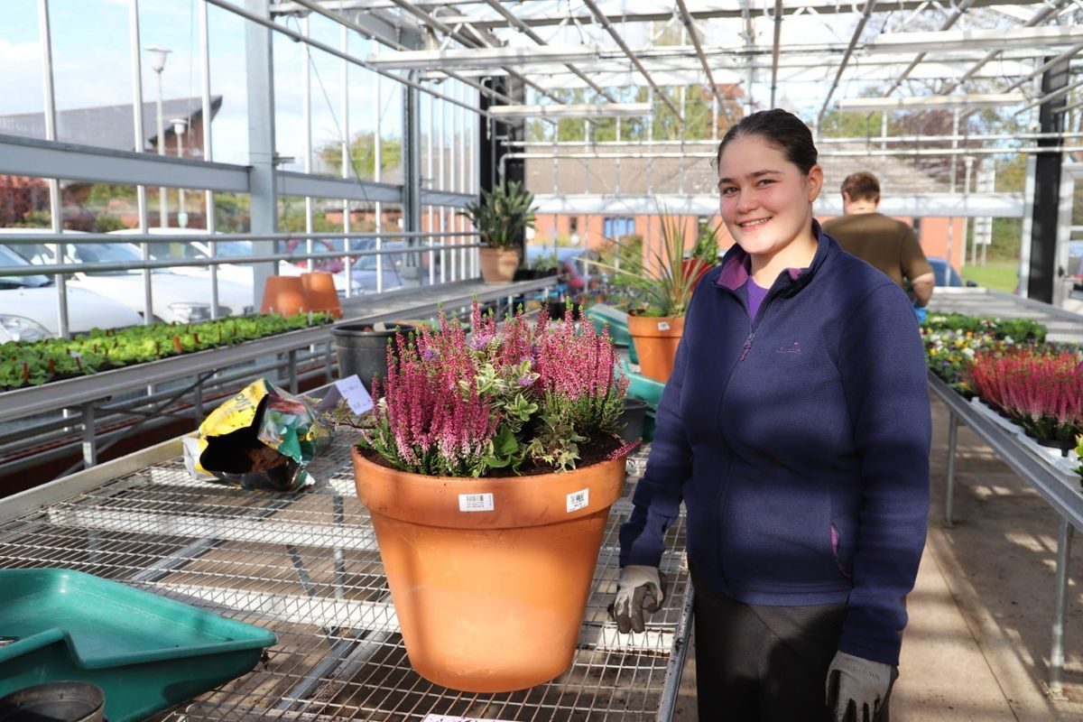 Horticulture student, Adhele Stafford