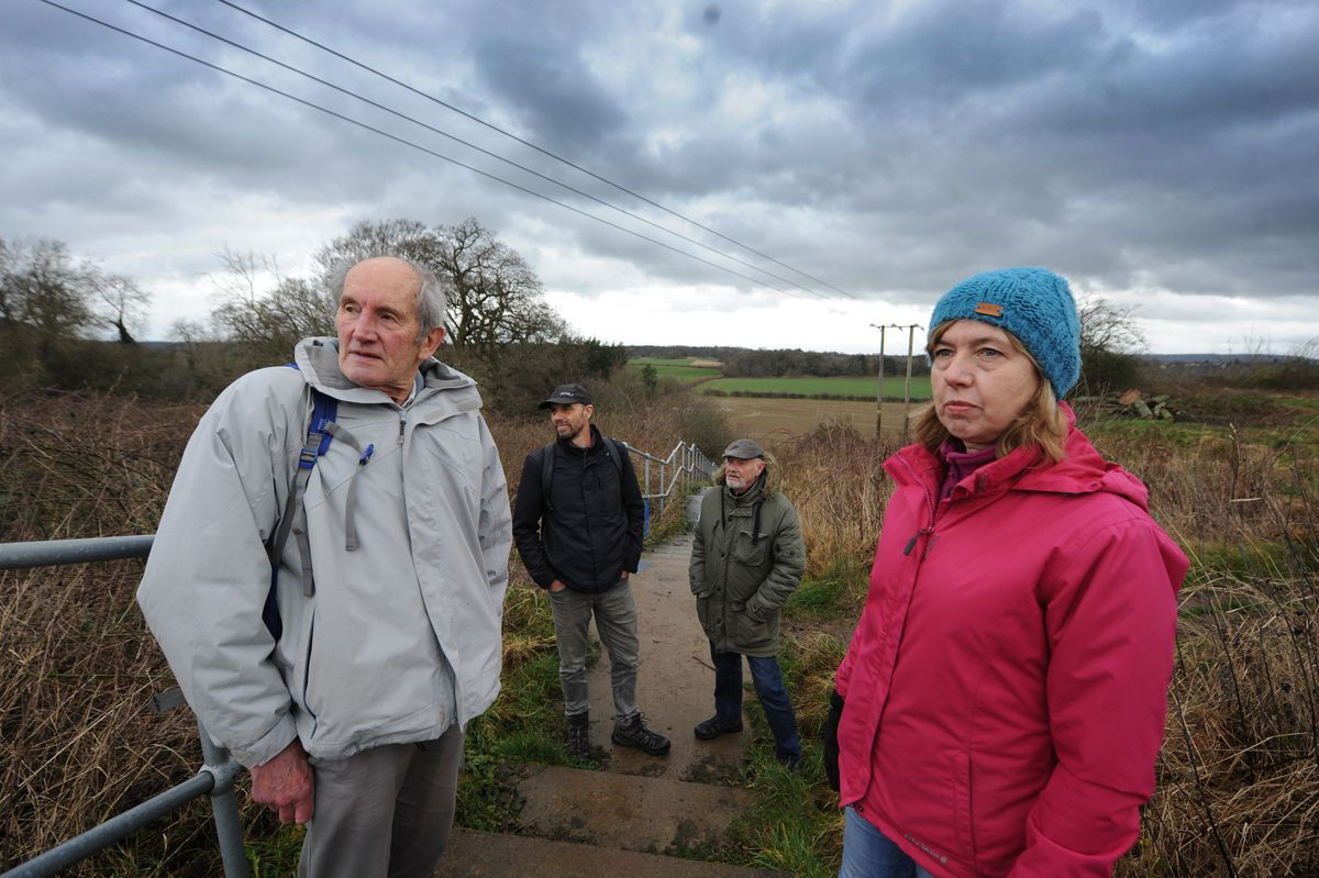 Frank Oldaker, and Robin Mager, Tony Perdue, and Jan Bevan, all of Shrewsbury, at Shelton Rough, Shelton, Shrewsbury are fiercely opposed to the North West Relief Road