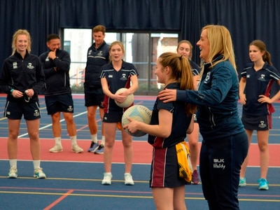 England head coach Tracey Neville gives netball masterclass in Oswestry