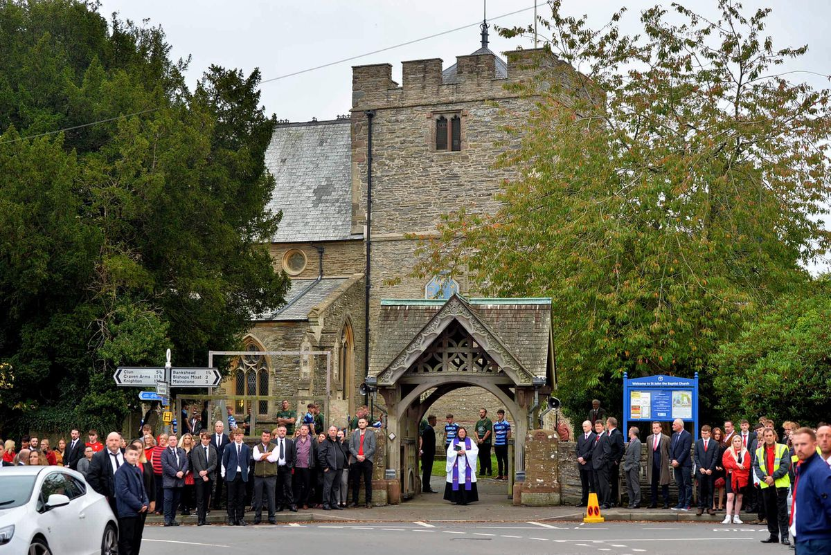 The service was held at St John the Baptist Church