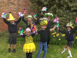 The children made Easter-themed hats and took part in a parade