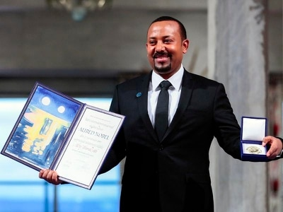 Nobel winner Abiy says 'hell' of war fuelled desire for peace