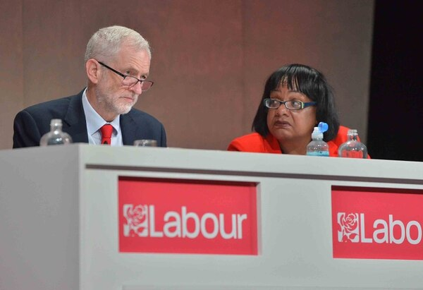 Jeremy Corbyn and Diane Abbott in Telford