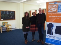 School outfitters aids Shropshire children's charity