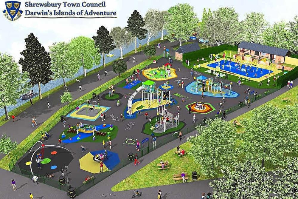 Unveiled 375 000 Shrewsbury Quarry Play Plans Inspired By Darwin Shropshire Star