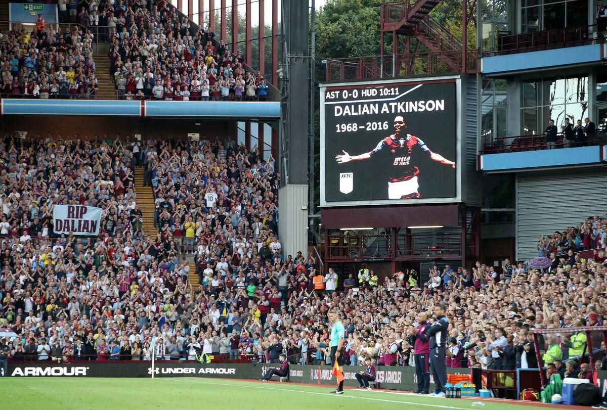Tributes were paid to Dalian Atkinson at Villa Park