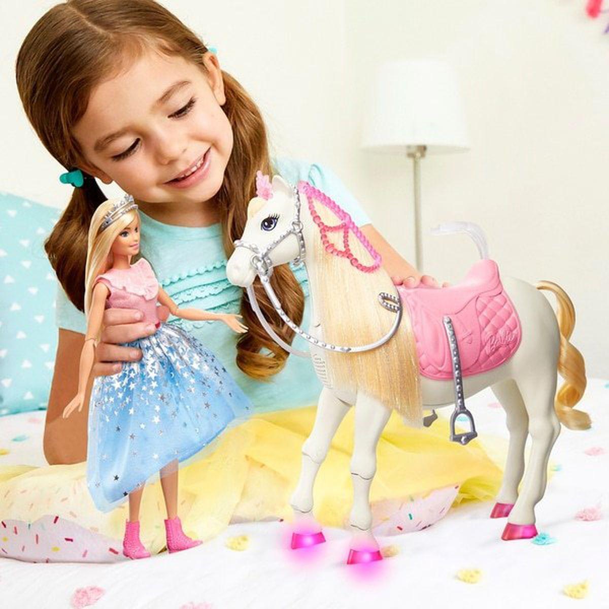 Barbie Pirncess Prance and Shimmer horse