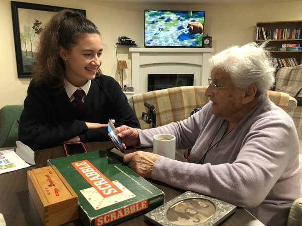 Friendship blossoms after chance meeting between Oswestry School pupil and care home resident