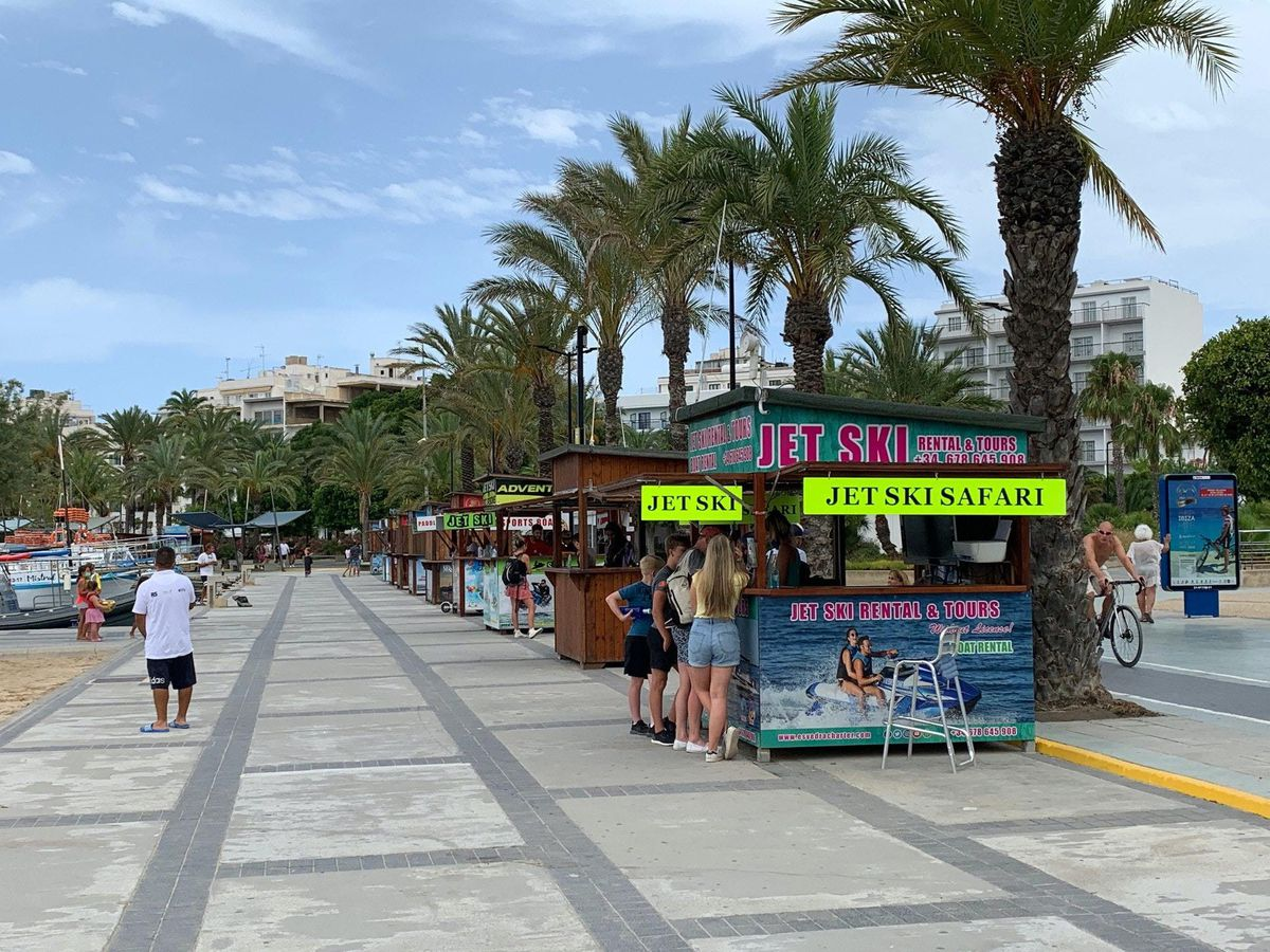 The promenade by San Antonio in Ibiza