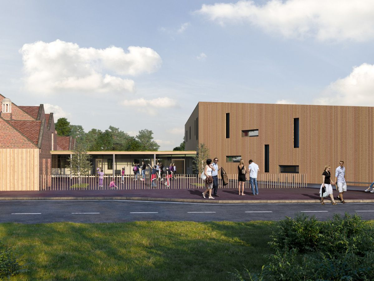 An artist's impression of the new part of the Welsh medium school for Welshpool