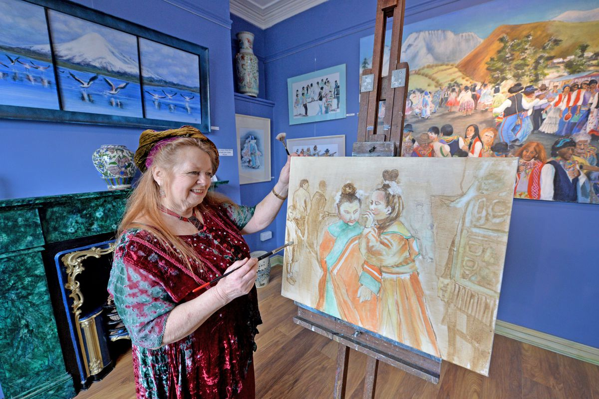 Ann Fraser at the Angel Gallery in Broseley