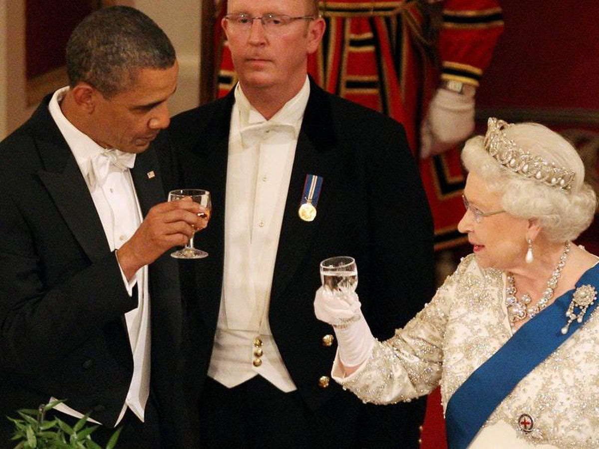 President Obama with the Queen