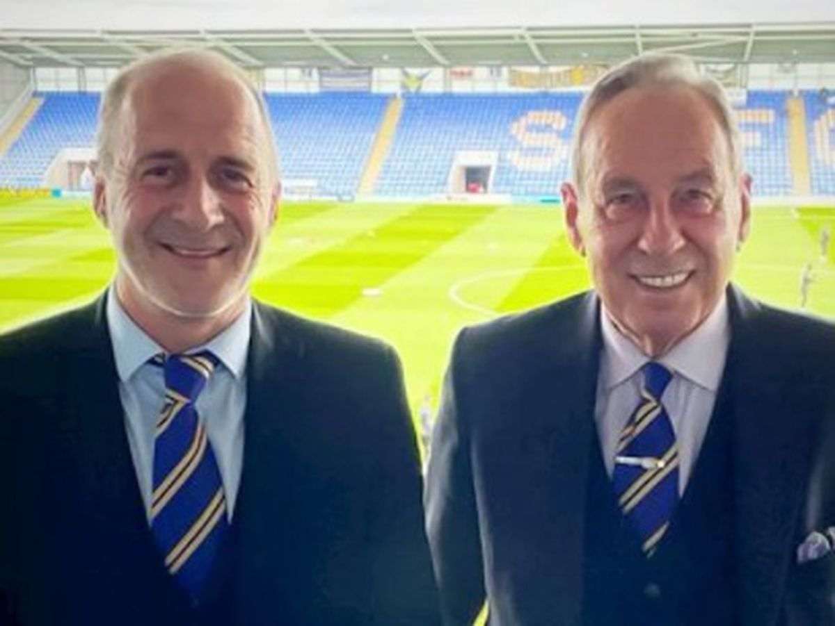 Paul Delves, left, is set to be the next chairman at Shrewsbury Town after negotiations to take over the club from long-standing owner and chairman Roland Wycherley MBE. Photo: Shrewsbury Town FC