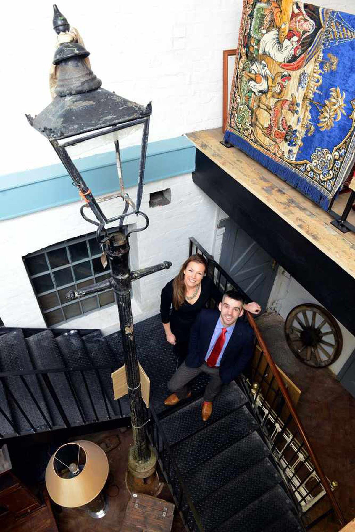 Christina Trevanion and Aaron Dean, at the former Joyce Clock building