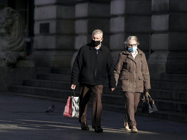 Shoppers wear face masks in Nottingham (Tim Goode/PA)
